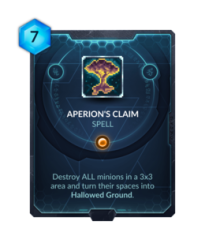 Aperion's Claim